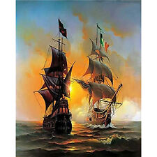 Sailing Boat picture Oil Painting Home Decor DIY Paint By Number Kit On Canvas