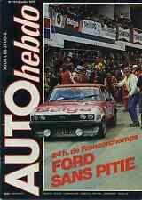 AUTO HEBDO n°174 du 26 Juillet 1979 24h de Spa