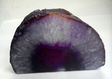 Purple crystal geode agate bougie tea light 721g reiki 110mm st20