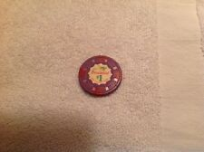 VERY RARE VERY OLD THUNDERBIRD ONE DOLLAR CASINO CHIP