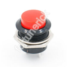 SPST Momentary rot Push Button Switch AC 125V/6A 250V/3A R13-507 2Pin 5 Stück