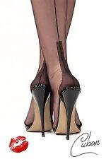 Bas de nylon anglais Bas nylon, Cubain Talon, Bas de couture, Gr. S 8 1/2