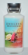 BATH & BODY WORKS ENDLESS WEEKEND LOTION CREAM SHEA BUTTER VITAMIN E 8 OZ LARGE