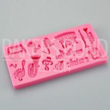Musician Music Silicone Mould Cake Fondant Icing Topper Cupcakes Mold Musical