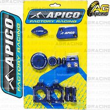 Apico Bling Pack Blue Blocks Caps Plugs Nuts Clamp Cover For Yamaha YZ 250F 2009