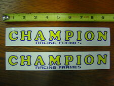 2 pc. Champion Racing Frames Decals Stickers Swing Arm BMX Flat Track Down Tube