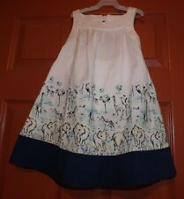 Gymboree blue safari dress size 5t nwt