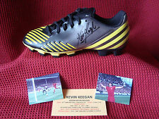 LIVERPOOL KEVIN KEEGAN GENUINE & PERSONALLY HAND SIGNED ADIDAS PREDATOR BOOT-COA