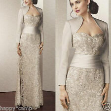 Hot Champagne Long Mother of the Bride Dress Formal Evening Dress Wedding Gowns