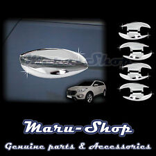 Chrome Door Handle Catch Cup Bowl Cover Trim for 13~ Hyundai Santa Fe/Grand SF