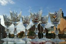 "6 x Star of Edinburgh Tall White Wine  Glasses - 6 1/4"" 1st Quality"