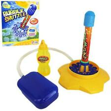 BUBBLE ROCKET STOMP FUN OUTDOOR KIDS GIFT TOY BLOWER LAUNCHER JET SHUTTLE NEW