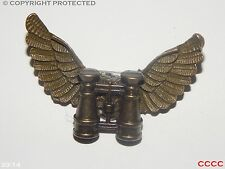 Steampunk brooch badge owl wings binoculars explorer eyeglass Harry Potter LARP