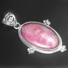 Fine 10.04 Gram 925 Sterling Silver Pure Rhodochrosite Beautiful Pendant Jewelry