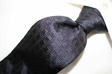 "GIORGIO ARMANI ""MADE IN ITALY""  Navy Blue with Rectangles Silk Tie"