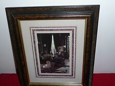"""FRAMED 12"""" x 10.5"""" VICTORIAN PRINT PICTURE WALL DECORATION-Playing Hide & Seek"""