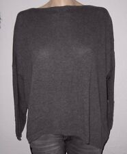 D&F Italy Oversize Pullover 36-44 anthrazit grau  Cashmere Wolle Lagenlook NEU