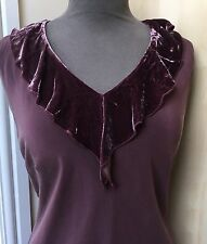 Silk Purple Party Dress By Laura Ashley Size 14
