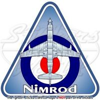 NIMROD RAF Hawker Siddeley-BAe British Royal AirForce Vinyl Sticker, Decal