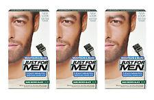 Just For Men Brush In Colour Moustache Beard DARK BROWN BLACK Face Dye Facial X3