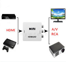 HDMI HD to RCA Composite AV TV Video Converter Convertor For Xbox/Roku/Computer