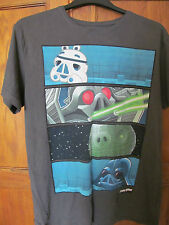 mens angry birds grey star wars t shirt size 42 chest