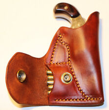 Pocket holster with ammo pouch for NAA 22 LR 1 1/8 or 1 5/8 - Leather tan