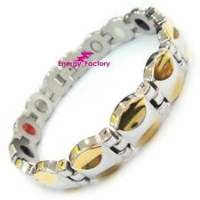 Female Magnetic Power Health Gold Bracelet 4in1 Ladies Bio Energy Armband