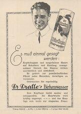 Y6560 Dr. DRALLE'S Haarwasser -  Pubblicità d'epoca - 1927 Old advertising