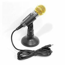 New Pyle PMIKC20BK Vocal Condenser Microphone For Computer, Karaoke,PA Amplifier