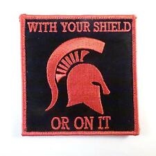 embroidered morale spartan helmet us navy seals WITH YOUR SHIELD fastener patch
