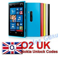 Nokia Lumia O2 UK Unlock Code 720 520 930 625 925 625 1020 1520 & more