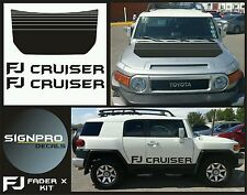 FJ Decal kit Hood and Doors for Toyota FJ Cruiser Racing Blackout 2007-14 3pc