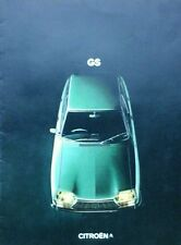 Citroen GS Brochure  1973