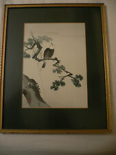 Far Eastern Watercolour. C.Kano. Pine Tree with Bird