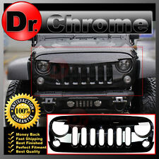 07-16 Jeep JK Wrangler Front Hood Shiny Black Replacement Grille Shell Sahara