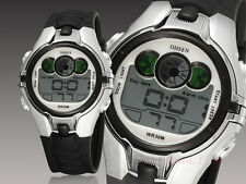 OHSEN Sport Digital AL School Watch For Child Boy Girl Wrist Watches Gray Silver