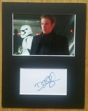 Domhnall Gleeson, The Force Awakens 'General Hux' hand signed mounted autograph.