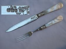 Nice English Victorian Sterling Silver Fruit Cutlery Set by Allen & Darwin.