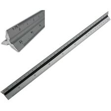 "300mm 12"" Aluminium Triangula Scale Ruler Engineers Architects Technical Drawing"