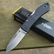 Ka-Bar Dozier Black Handle AUS8A Zytel Handle Lockback Knife 4062