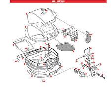 Z734SET RICAMBIO FASCIONI CENTRALE POSTERIORE LATERAL GIVI BAULE V46 e  V46 TECH