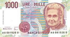 Italy  1000 Lire  3.10.1990  P 114  Series AG-U Circulated Banknote