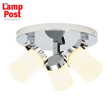 Saxby Cosmo - 39617 - 18W G9 Triple Chrome Plated IP44 Bathroom Ceiling Light