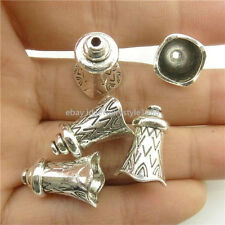 18316 20PCS Antique Silver Christmas 17mm bell Beads Cap For Tassels Pendant