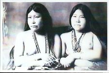Female Eskimo Twins, Alaska, Native American Indian, Nude, AK -- Modern Postcard