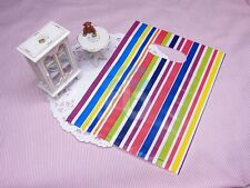 WHOLESALE LOT OF 100 COLOR STRIPE SHOPPING RETAIL BAGS 5x6.75 inches