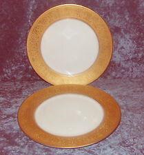2 ROSENTHAL SELB BAVARIA VERY ORNATE GOLD EDGED ROMAN STYLE DESIGN DINNER PLATES