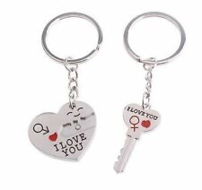 """I LOVE YOU"" KEY CHAIN RING SET 2 PIECE HEART ARROW VALENTINES DAY GIFT #KC19"