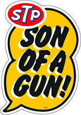 STP SUN OF A GUN DRAG RACE HOT RAT ROD DECAL VINTAGE LOOK STICKER